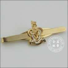 Gold Tie Clip with Badge, Custom Stickpin (GZHY-TC-006)