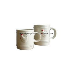 Ceramic Bossed Rooster Mug
