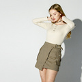 Simple Atmosphere Women High Waist Short Skirt