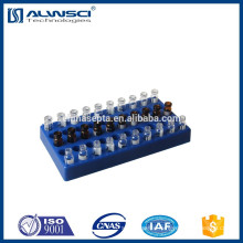 Stable 5*10 positions 2ml hplc Vial blue Polyethylene Racks