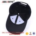 Schwarze benutzerdefinierte billige stilvolle Baseballmütze