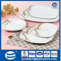 20pcs línea simple rosa de diseño y color marrón único porcelana de porcelana con motivos