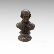 Büsten Messing Statue Musiker Mozart Dekor Bronze Skulptur Tpy-805