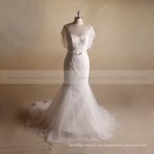 Diseños de bordado con cuentas para el vestido de novia de sirena 2017