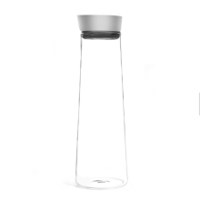 Pitcher for Hot & Chilled Beverages Bottle with Drip-Free Lid by Glass Carafe