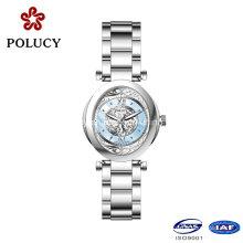 Reloj de pulsera reloj de brazalete de diamantes de Lady de lujo de moda venta caliente