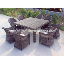 Luxury hotel rattan dining furniture