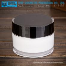 Bouteille de 100g YJ-A100, large application de cosmétiques industrie épais acrylique pot de crème