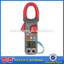 Pinza amperimétrica digital con luz de fondo de capacitancia Temperatura del zumbador Datos de retención de la frecuencia Ciclo de trabajo Rango de servicio automático WH826