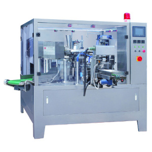 Rotary packing machine for paste