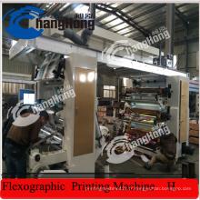Machine à imprimer en flexion en papier à stratifié à feuille en aluminium de 4 couleurs (CH884-1400L)