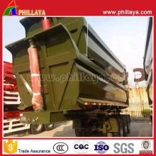2-3 Axles U Shaped Hydraulic Tipping Truck Semi Tipper