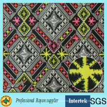 African Printed Rayon Fabric for Girls Garments
