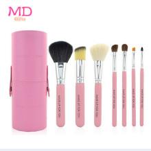 PRO 7PCS Pink Tubular Makeup Cosmetic Brush Set (TOOL-182)