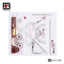 Color UV Paint Office Stationery Plastic Ruler Set