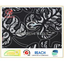 Tissu de vêtement d'impression de feuille de Poly Pongee 300t () Zcgp006