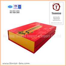 Red Strong Rigid Cardboard Gift Box with Inlay
