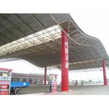 Prefab Light Steel Structure Space Rahmen für Tankstelle
