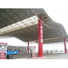Prefab Light Steel Structure Space Frame for Gas Station
