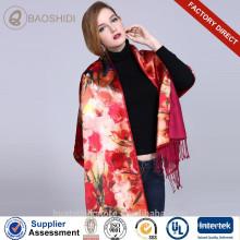 Impression numérique et écharpes et châles en soie et brosses à double couche