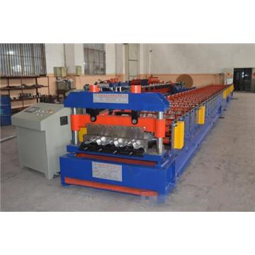 Petit pain en acier coloré de panneau de plate-forme de toit formant la machine