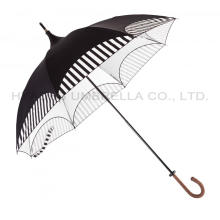 Ladies Vintage Folding Sun Pagoda Paraply Parasol