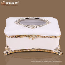 tissue box wholesale high quality resin craft resin tissue box