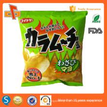 FDA aprovou saco plástico batatas fritas com impressão de design personalizado logotipo