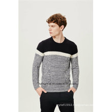 Cable Knit Wool Blend Men Knitwear