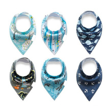 Drooling and Teething 6 Pack Gift Set For Boys Baby Bandana Drool Bibs Baby Bibs