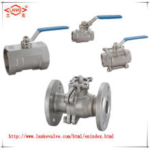 Female Two Piece Ball Valve with Thread End for Staniless Steel
