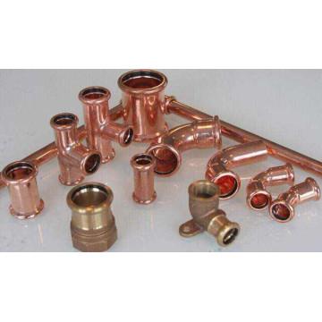 Raccord à presser (M001) de cuivre tuyau de cuivre pour l'eau et de gaz