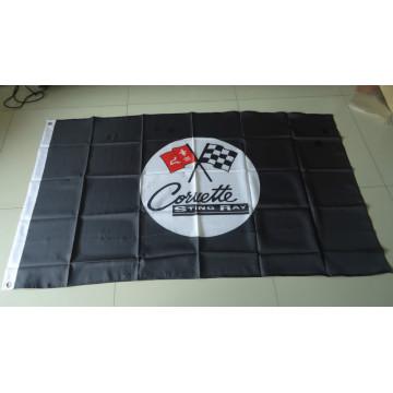 Bandera de exhibición de publicidad de coche bandera de corbeta stingay bandera de corbeta stingay 90X150CM tamaño 100% poliéster