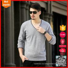 Suéteres de la cachemira de la venta al por mayor del cuello del v de los hombres China