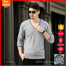 Men's v neck wholesale cashmere sweaters china