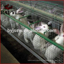Rabais d'approvisionnement d'usine Galvanisé Commercial Rabbit Farming Cage Fournitures
