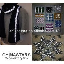 Chaîne réfléchissante à haute visibilité pour tricoter