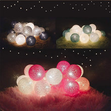 3m 20 Cotton Balls Led String Lights