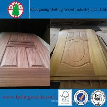 Peinture de porte en bois de placage HDF en usine de Chine