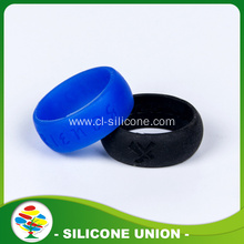 2016 Promotion Custom Debossed Silicone Ring for Wedding