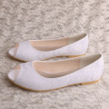 Ladies Peep Toe Flat Shoes pour la mariée