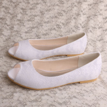 Ladies Peep Toe Flat Shoes untuk Bridal
