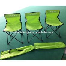 Leve tecido camping cadeira dobrável, cadeira sem braços de acampamento de dobramento