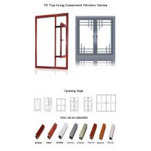 Fenêtre en aluminium à battants à rupture thermique Feelingtop (FT-W55)
