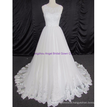 Empire Cap Sleeve Lace Bridal Gown