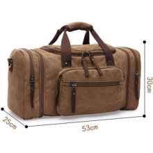 8642 Unisex Canvas Weekend Bag Holdall Large Handbag Travel Bag Duffel Overnight Travel Luggage Tote Handbags Shoulder Bags Black