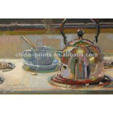 Taza de café de alta calidad pintura al óleo