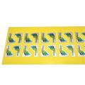 Impresión de etiquetas cosméticas de lámina caliente holográfica de oro y plata