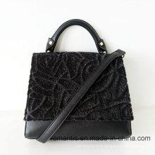 Promotional Lady Fur PU Handbags Women Fancy Bag (NMDK-041906)