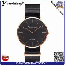 Yxl-411 Hottest Dw Style Black Face Rose Gold Plating Watches Business Luxury Quartz Men′s Watch Dress Ladies Gift Watch Wrist